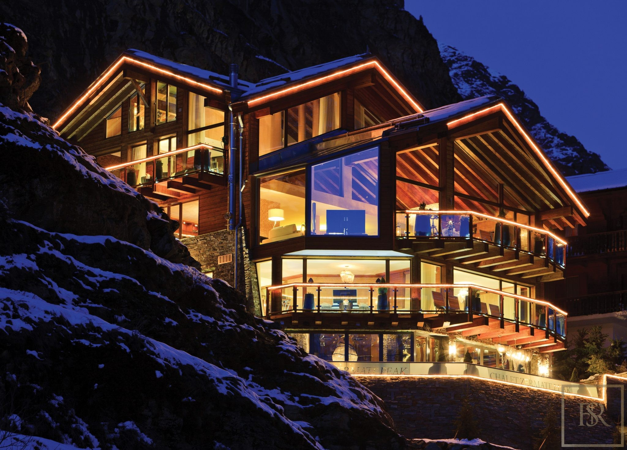 For super rich ultra luxury real estate properties homes, most expensive houses, rent unique penthouse apartment and ultimate villa in Zermatt Switzerland for rent holiday