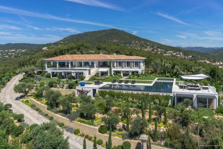 Villa Best View Gulf St-Tropez 6 BR - Grimaud, French Riviera 107500 Week rental For Super Rich