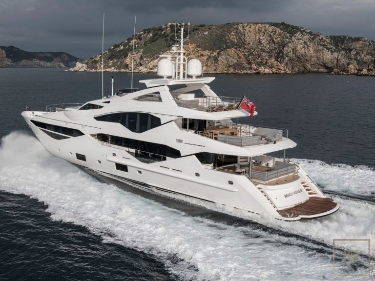 Sunseeker BERCO VOYAGER 40 Meters family office charter rental For Super Rich