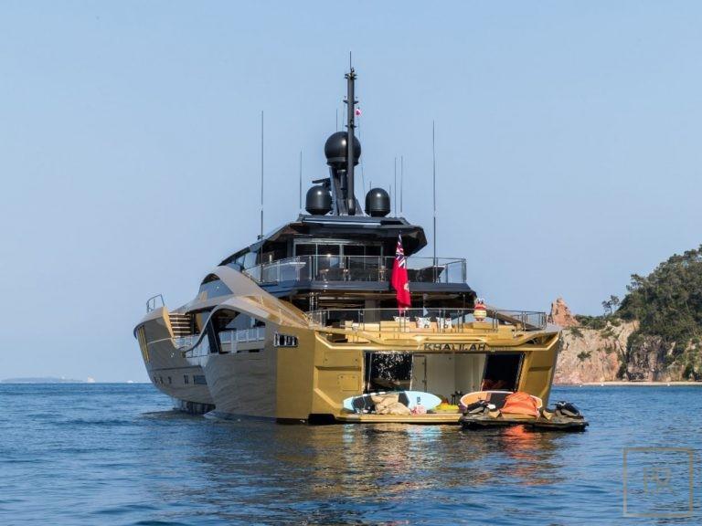 Palmer Johnson KHALILAH 49 Meters super yacht charter rental For Super Rich