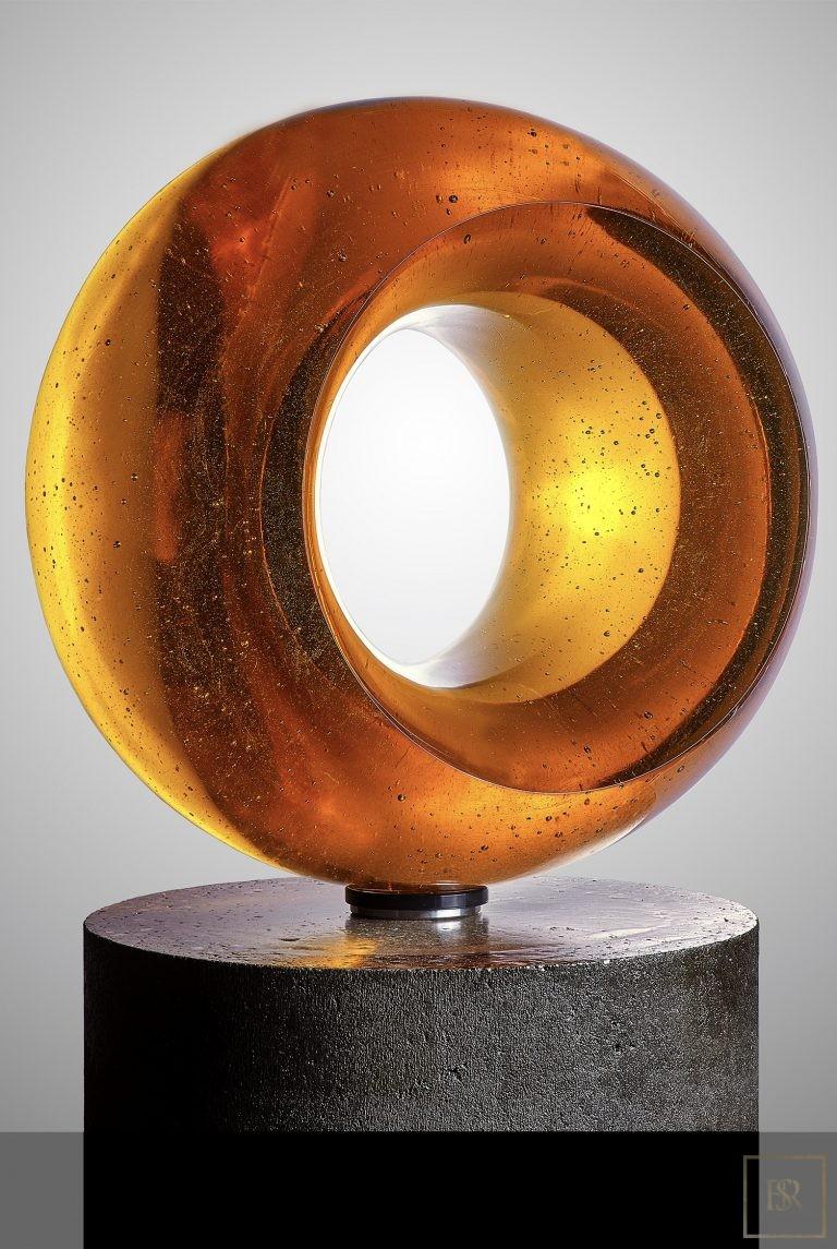 Art Sculpture EPICENTER Gold - Bohemian Crystal Unique for sale For Super Rich