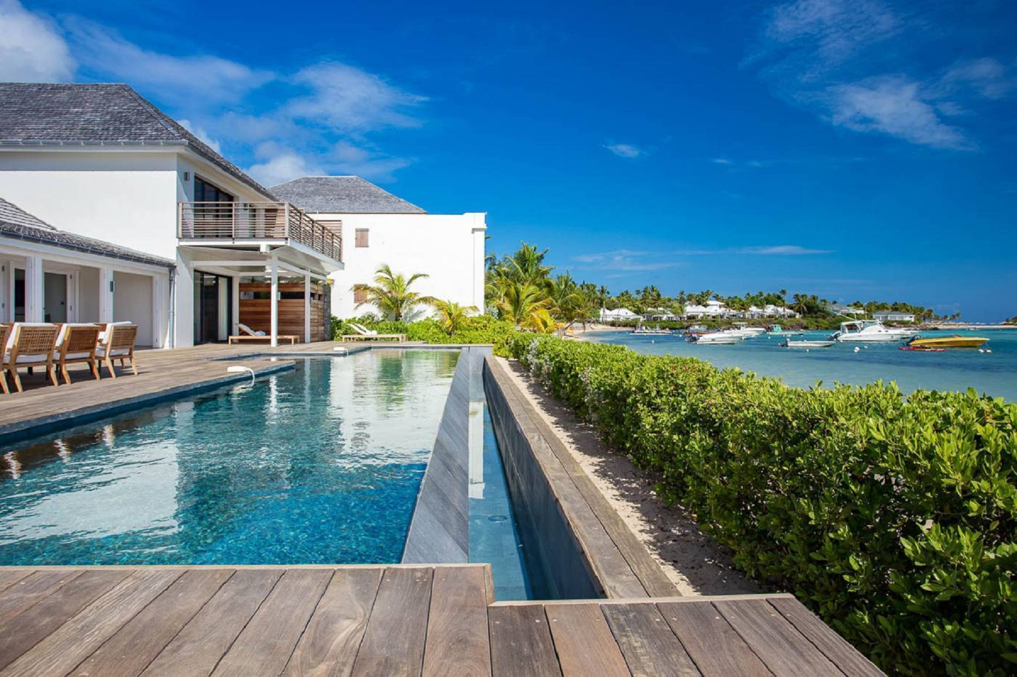 For super rich ultra luxury real estate properties homes, most expensive houses, rent unique penthouse apartment and ultimate villa in St Barth - Grand Cul de Sac St Barth St. Barthélemy for rent holiday