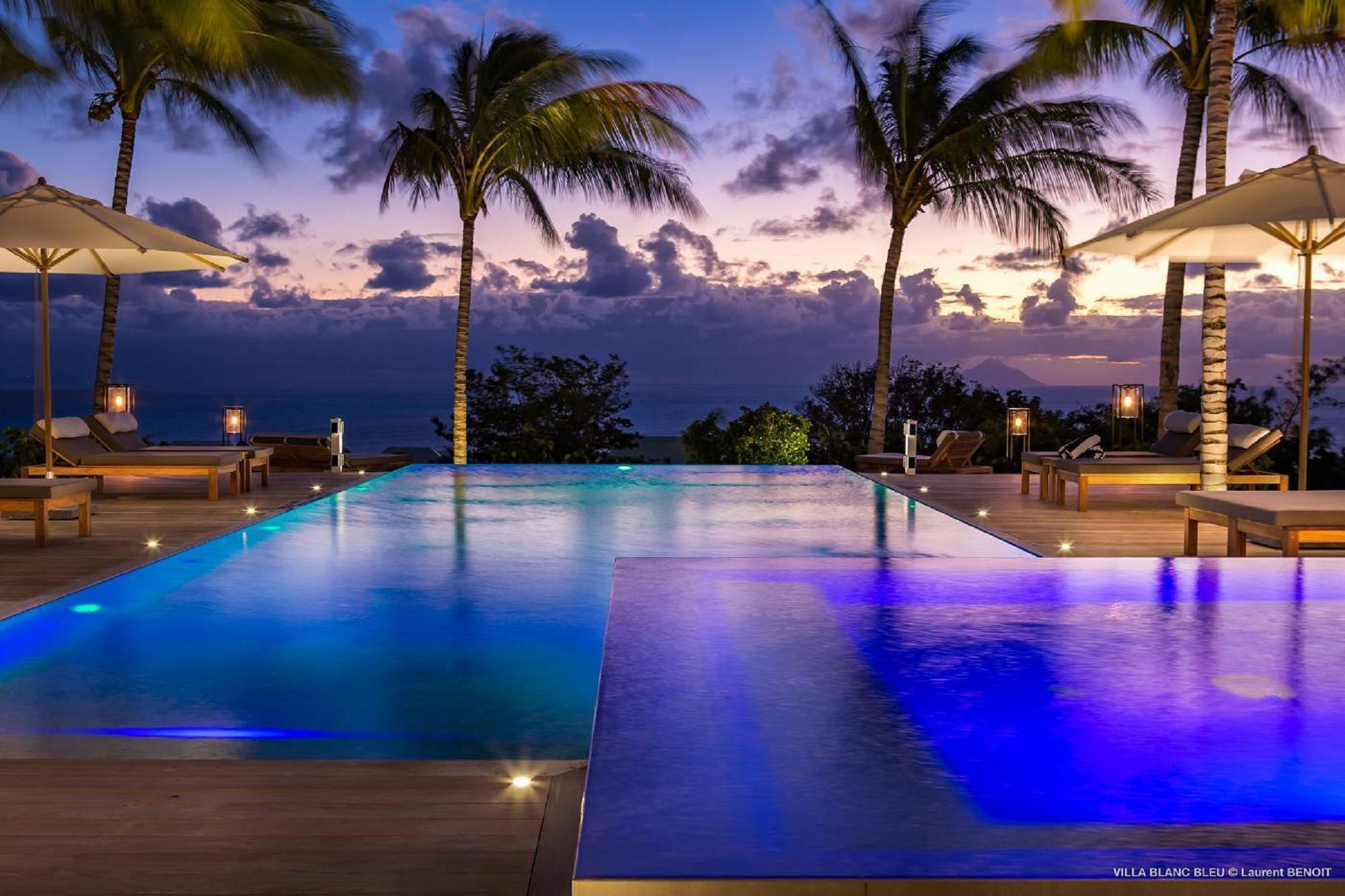 Villa Blanc Bleu 6 BR - Gouverneur, St Barth / St Barth rental For Super Rich