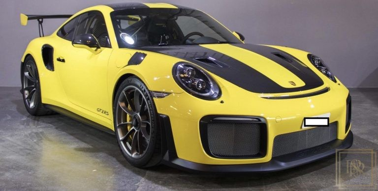 2018 Porsche 911 GT2 RS Yellow for sale For Super Rich
