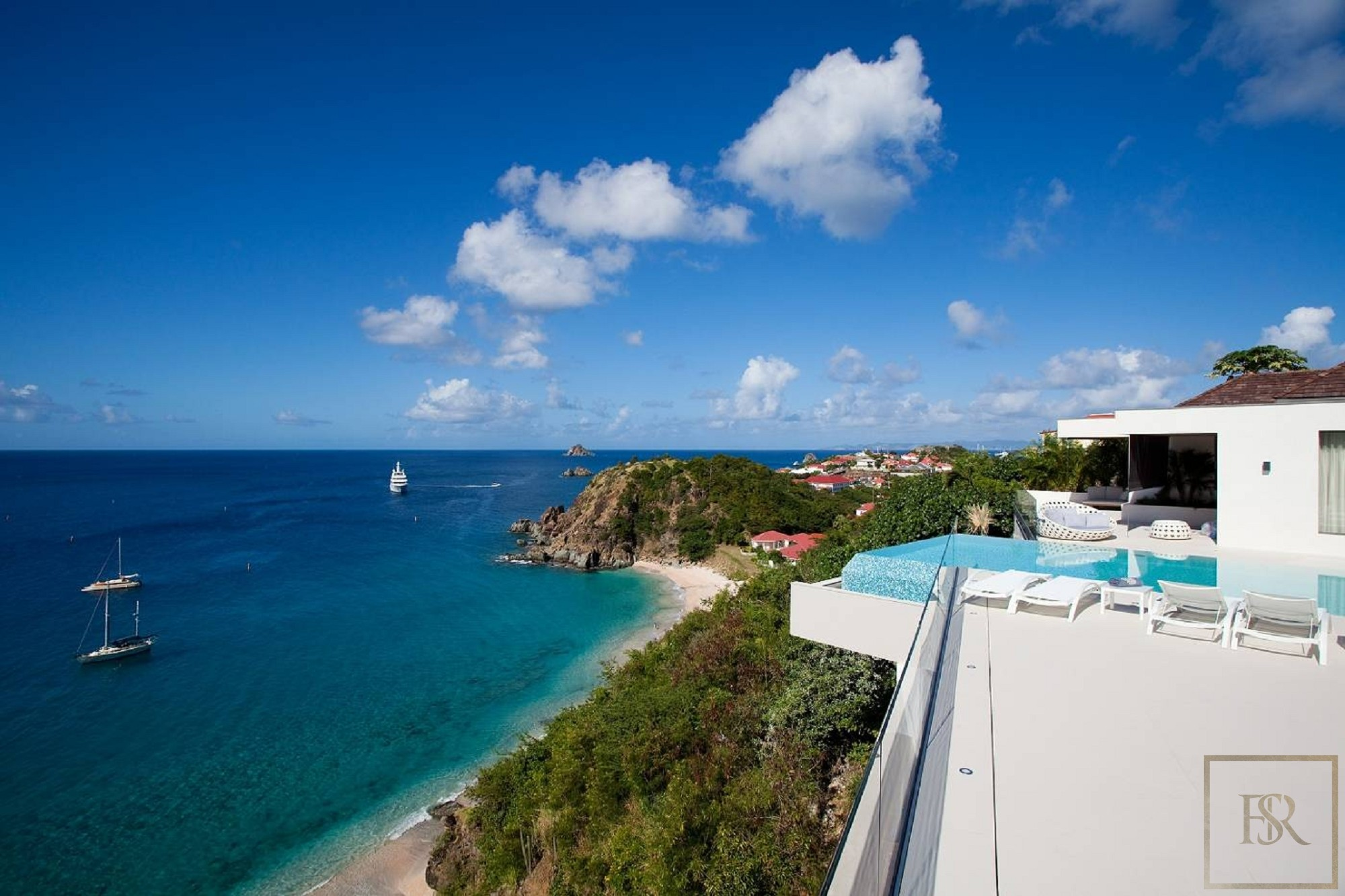 For super rich ultra luxury real estate properties homes, most expensive houses, rent unique penthouse apartment and ultimate villa in St Barth - Lurin St Barth St. Barthélemy for rent holiday