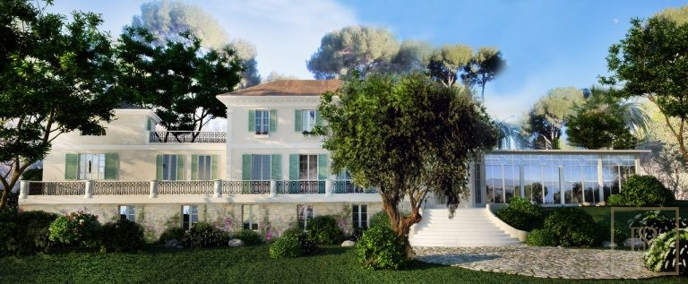Villa Century - Cap d'Antibes, French Riviera Construction plan for sale For Super Rich