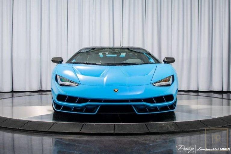 2017 Lamborghini Centenario Black Alcantara for sale For Super Rich