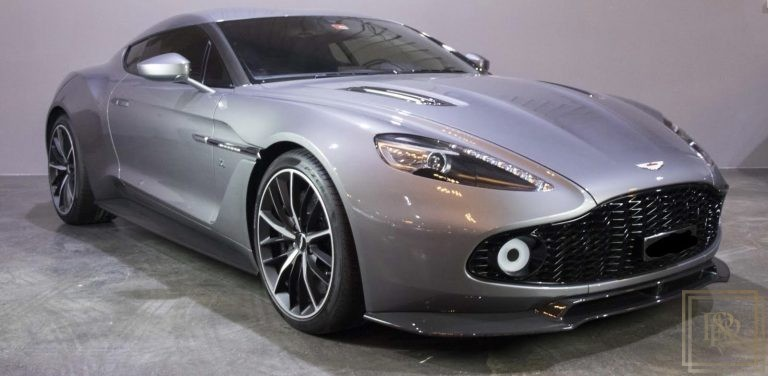 2017 Aston Martin Vanquish Zagato Black leather/Alcantara for sale For Super Rich