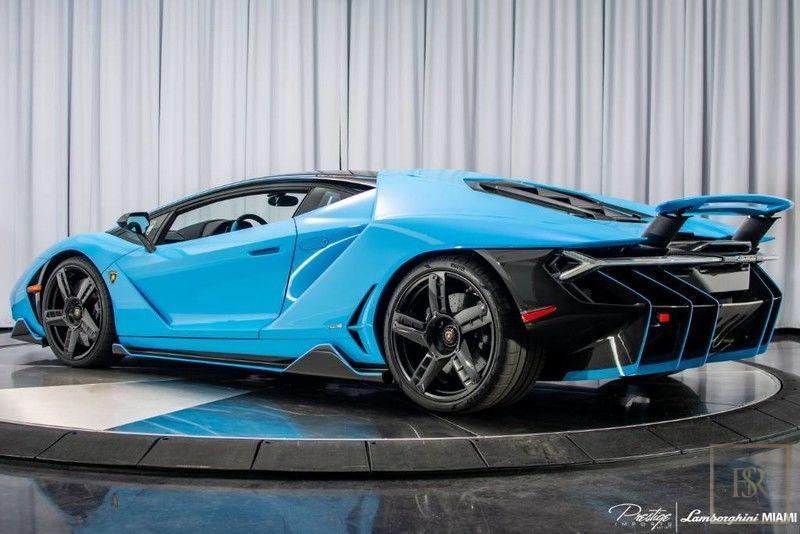 Used 2017 Lamborghini Centenario Blue 713 Mils For Sale For Super Rich