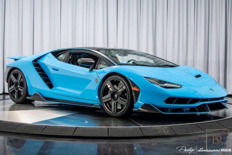 2017 Lamborghini Centenario Blue for sale For Super Rich