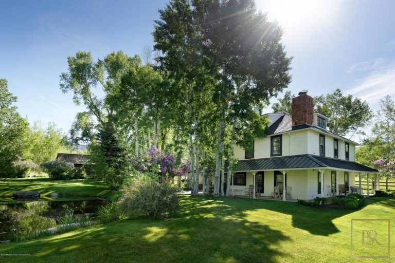 Victorian Farmhouse - Little Woody Creek, Aspen CO best for sale For Super Rich