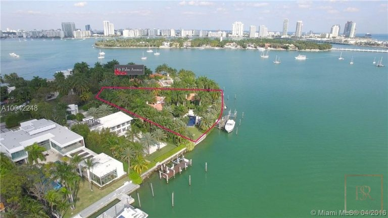 House PALM ISLAND 16 Palm Ave - Miami Beach, USA price for sale For Super Rich