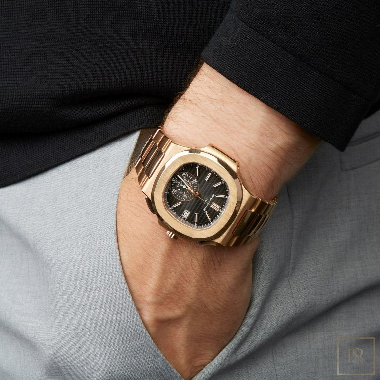 Watch PATEX PHILIPPE Nautilus Chronograph 18k rose gold  179000 for sale For Super Rich
