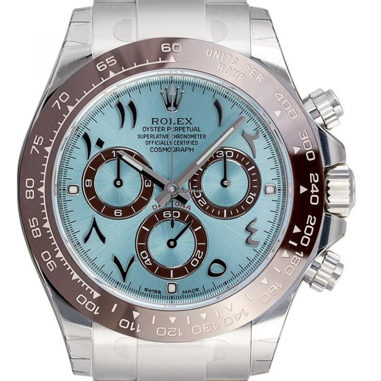 Watch ROLEX Cosmograph Daytona in Platinum Arabic Dial 150000 for sale For Super Rich