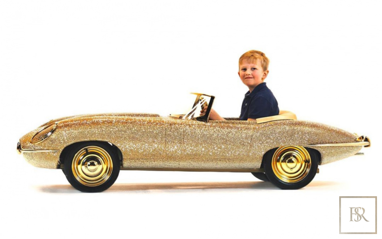 Childs Car SWAROVSKI Encrusted 24K Gold Plated   United Arab Emirates for sale For Super Rich