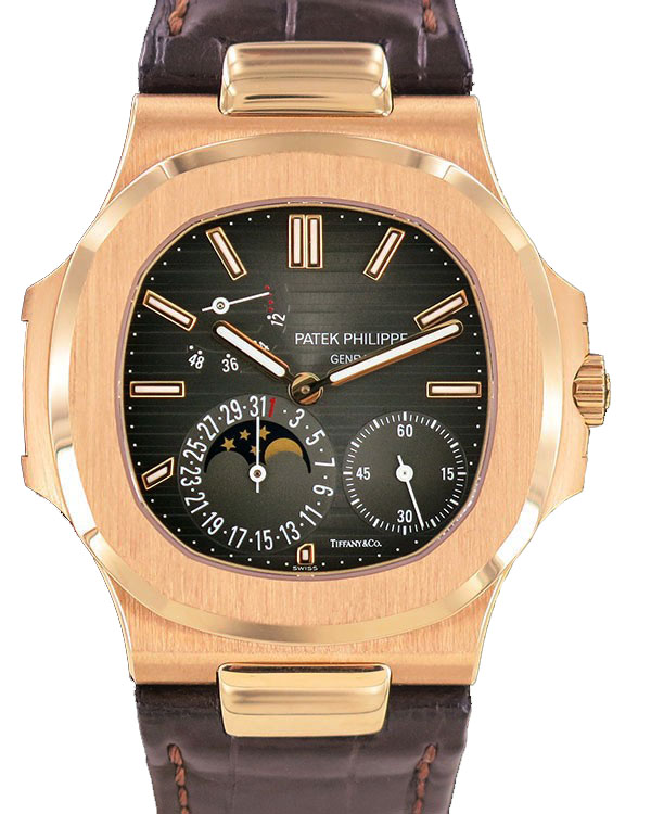 Watch PATEK PHILIPPE Nautilus Moonphase 18k RG Tiffany & CO. 150000 for sale For Super Rich