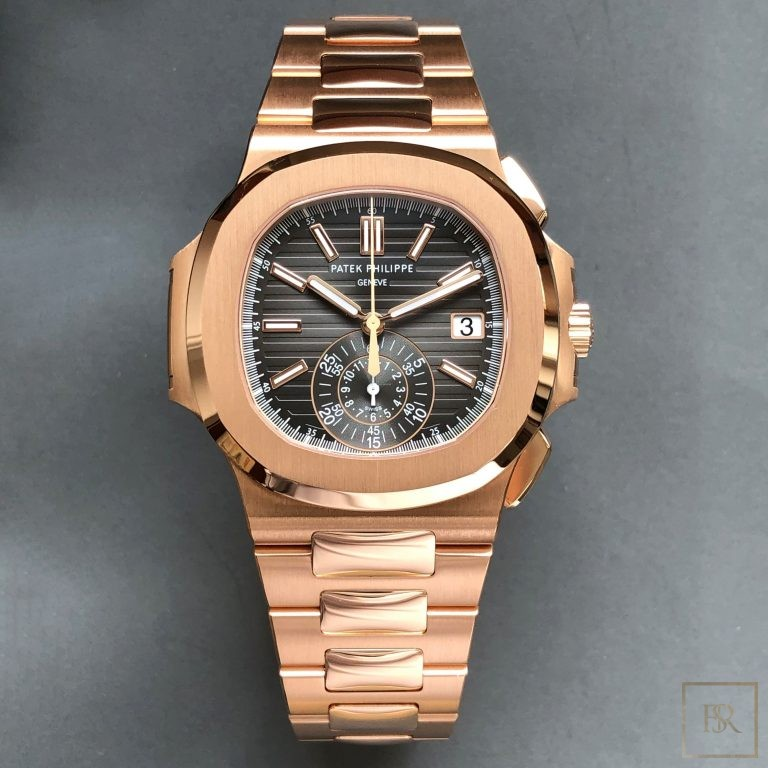 Watch PATEX PHILIPPE Nautilus Chronograph 18k rose gold  United Arab Emirates for sale For Super Rich