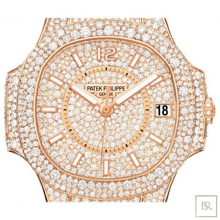 Watch PATEK PHILIPPE Nautilus Ladies Full Diamond Set 290000 for sale For Super Rich