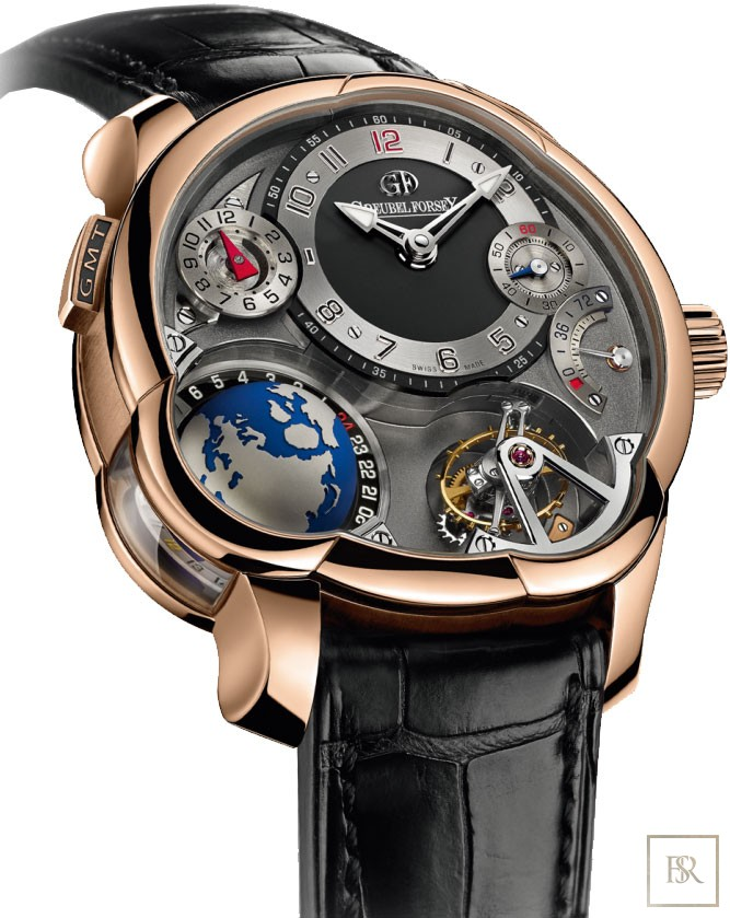Watch GREUBEL FORSEY GMT Tourbillon Anthracite Dial 43.5MM  250000 for sale For Super Rich