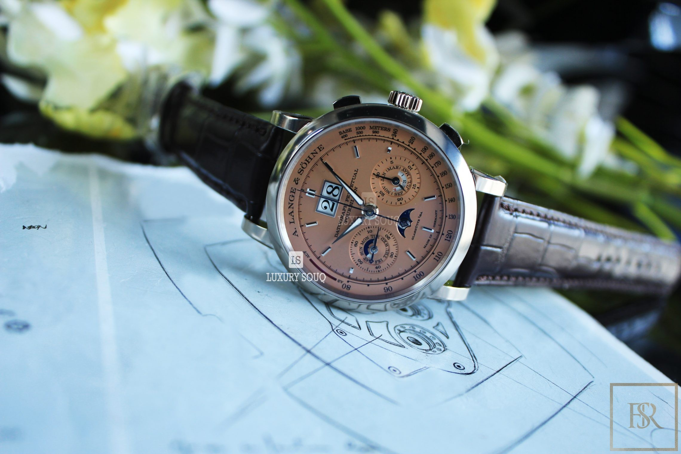 Watch A. LANGE & SÖHNE Datograph Perpetual Tourbillon 41.5 Limited Edition for sale For Super Rich