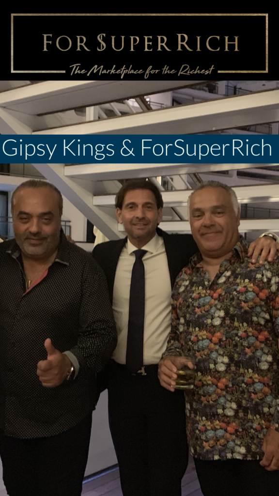Gipsy Kings and Eric Poirier at the Yacht Club Monaco