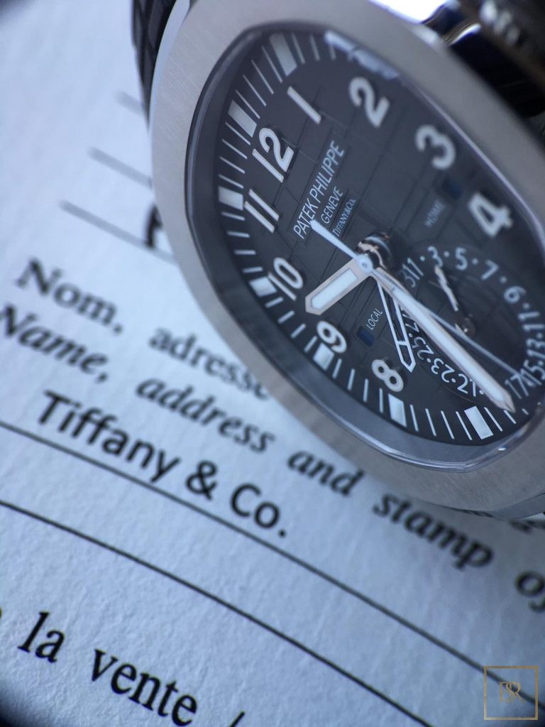Watch PATEK PHILIPPE Aquanaut Travel Time Tiffany & CO.  150000 for sale For Super Rich