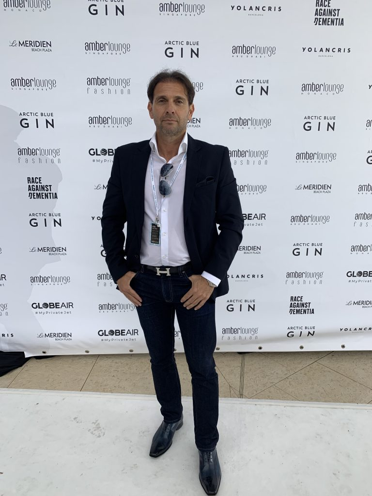 Eric Poirier Owner & Founder ForSuperRich.com at the Charity Fashion Show Amber Lounge Monaco