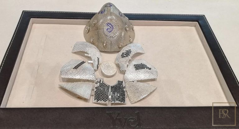 World's Most Expensive COVID Face MASK 18K Gold with 3608 Diamonds ultra luxury for sale For Super Rich