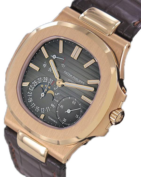 Watch PATEK PHILIPPE Nautilus Moonphase 18k RG Tiffany & CO. Unique for sale For Super Rich