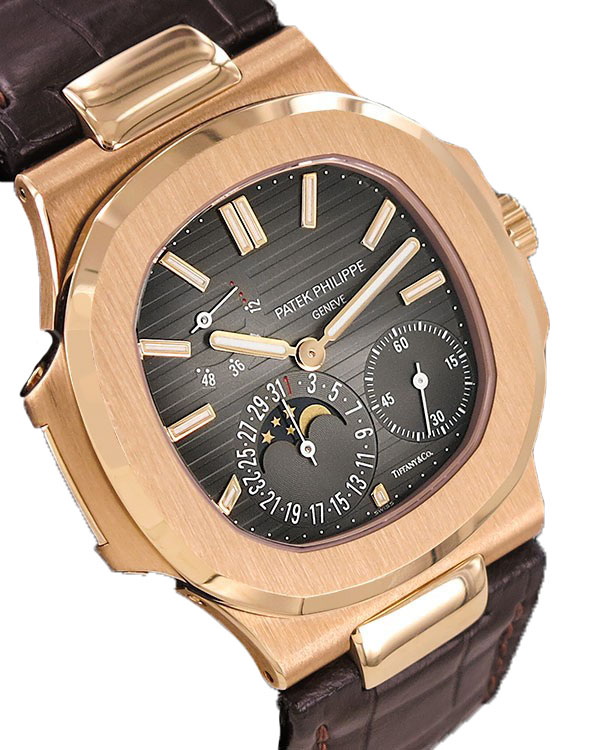 Watch PATEK PHILIPPE Nautilus Moonphase 18k RG Tiffany & CO. United Arab Emirates for sale For Super Rich