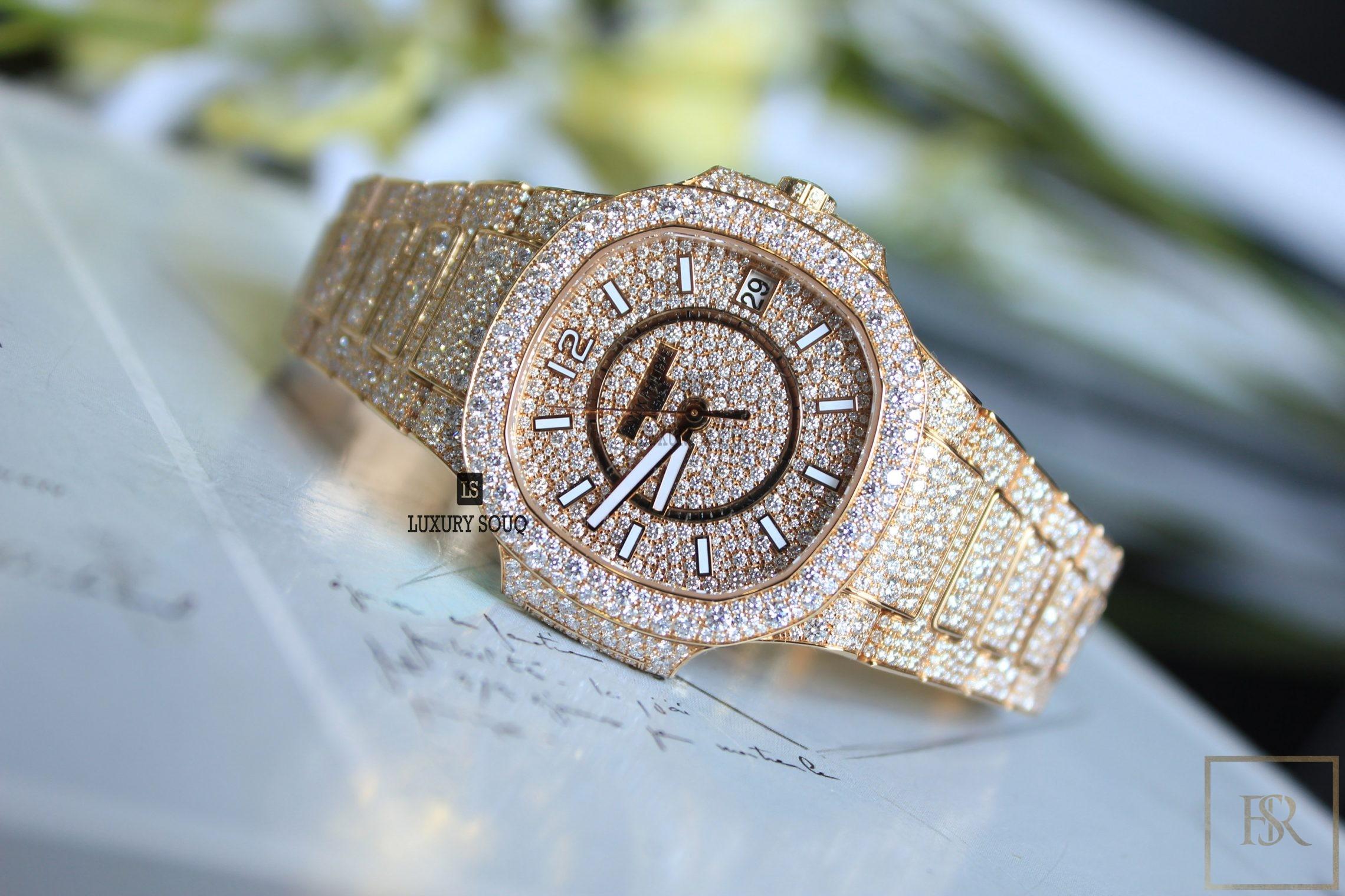Watch PATEK PHILIPPE Nautilus Ladies Full Diamond Set for sale For Super Rich