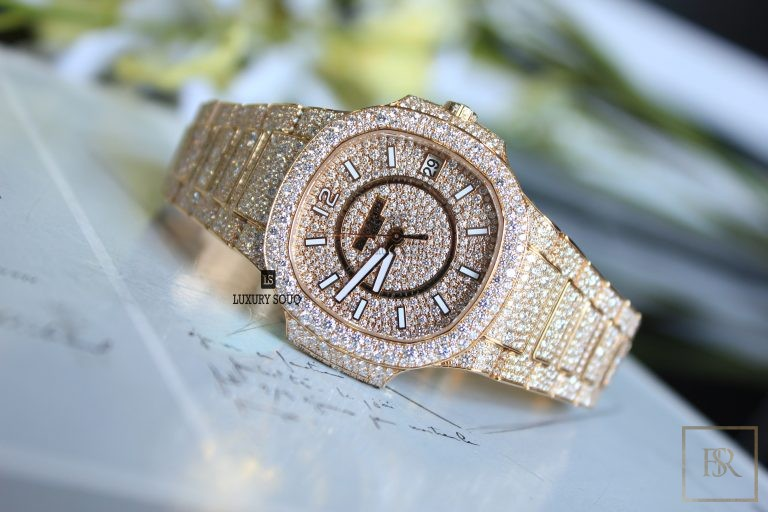 Watch, PATEK PHILIPPE Nautilus Ladies Full Diamond Set