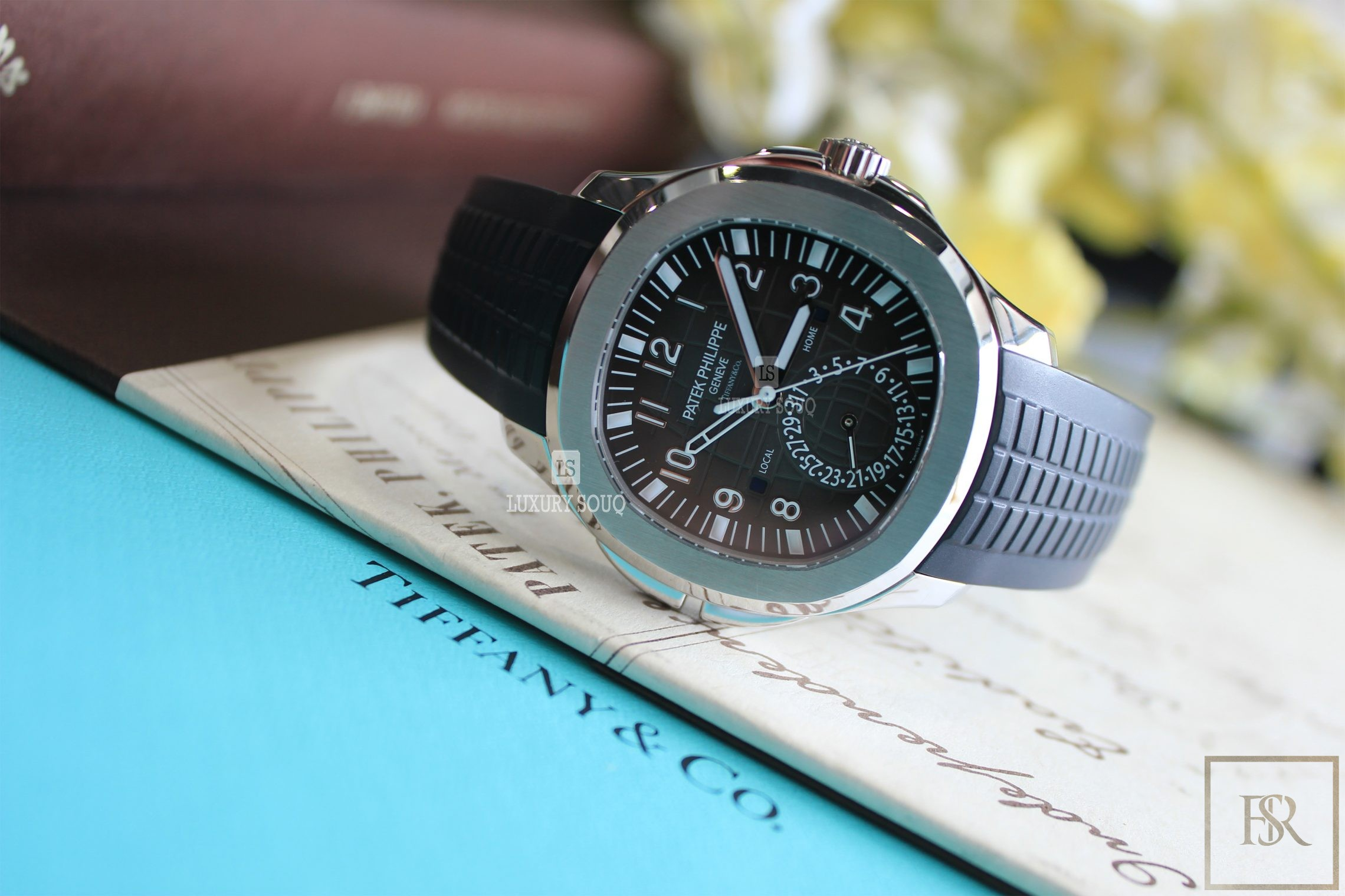 Watch PATEK PHILIPPE Aquanaut Travel Time Tiffany & CO.  for sale For Super Rich