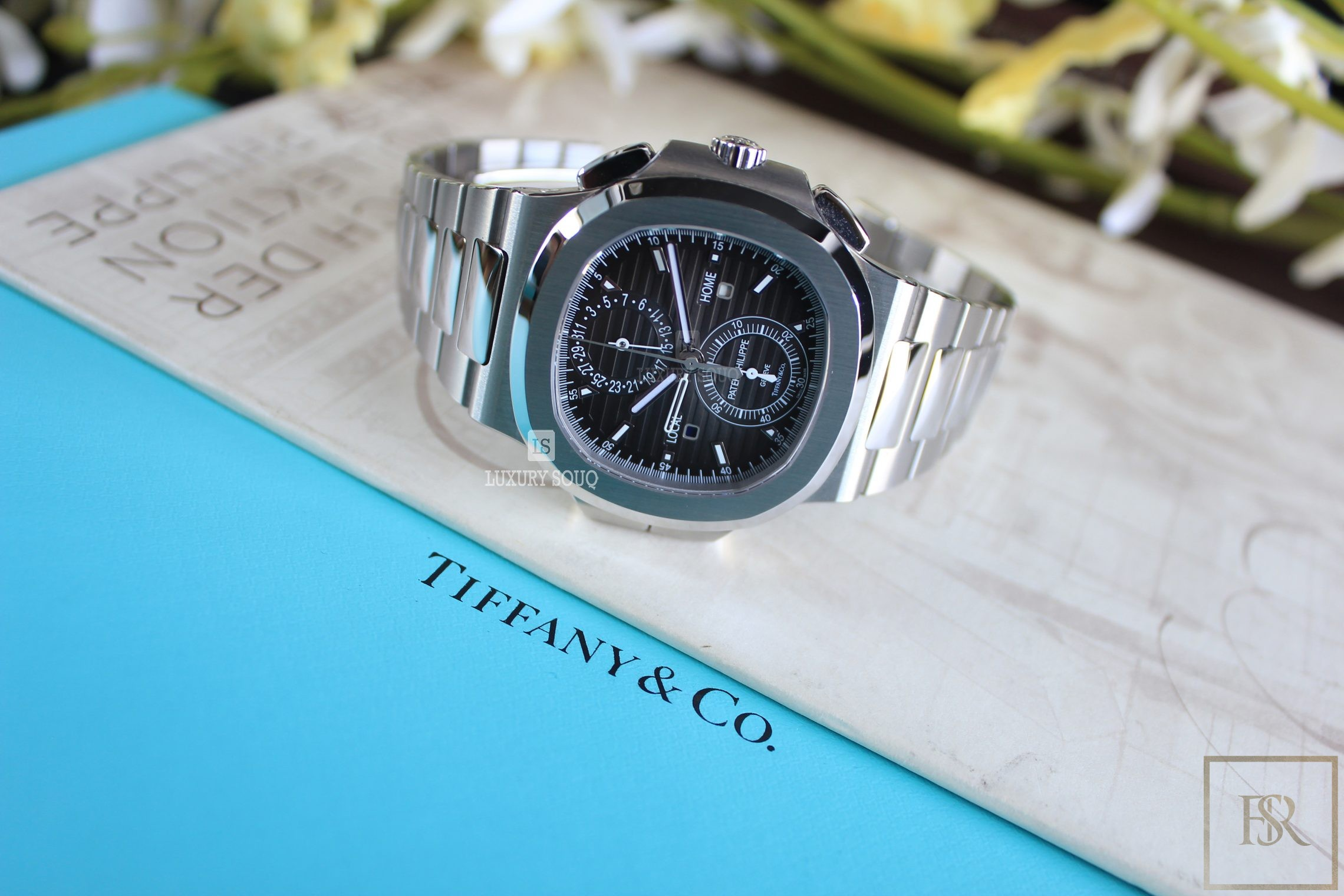 Watch PATEX PHILIPPE Nautilus Travel Time Chronograph Tiffany & CO.  for sale For Super Rich
