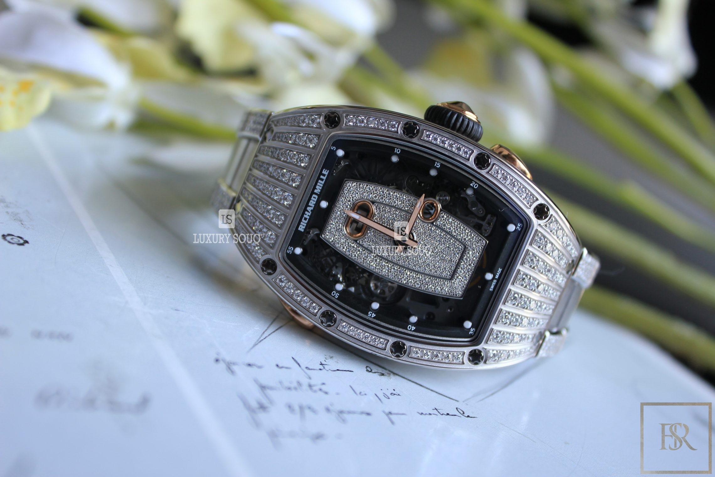 Watch RICHARD MILLE Ladies White Gold Diamond Set for sale For Super Rich