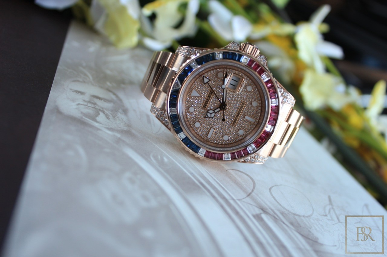 Watch ROLEX GMT-Master II Automatic Rose Gold Diamond for sale For Super Rich