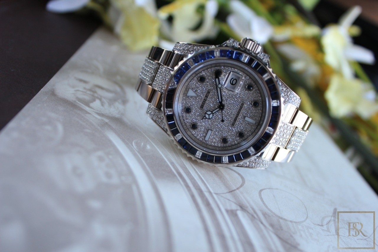 Watch ROLEX Submariner Factory Diamonds & Sapphires for sale For Super Rich