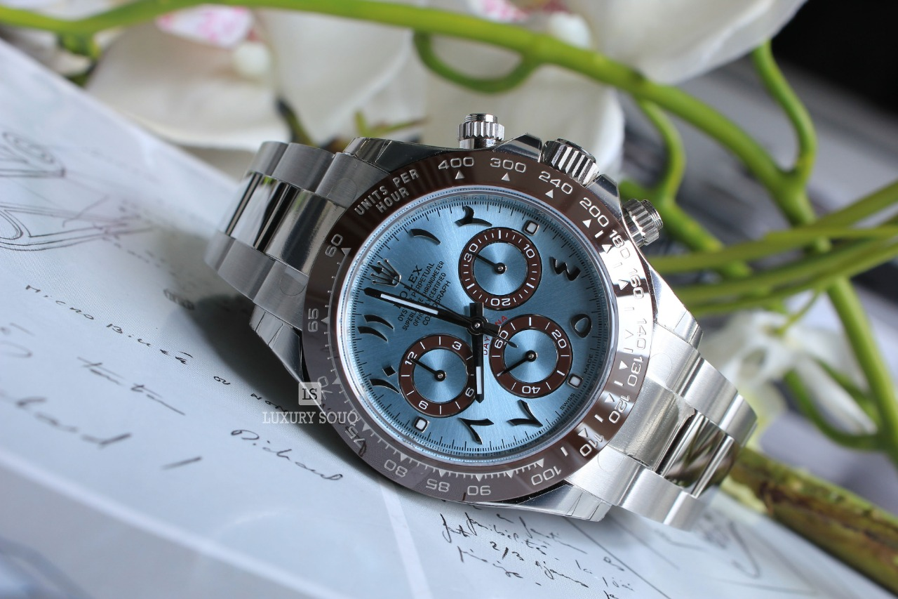 Watch ROLEX Cosmograph Daytona in Platinum Arabic Dial for sale For Super Rich