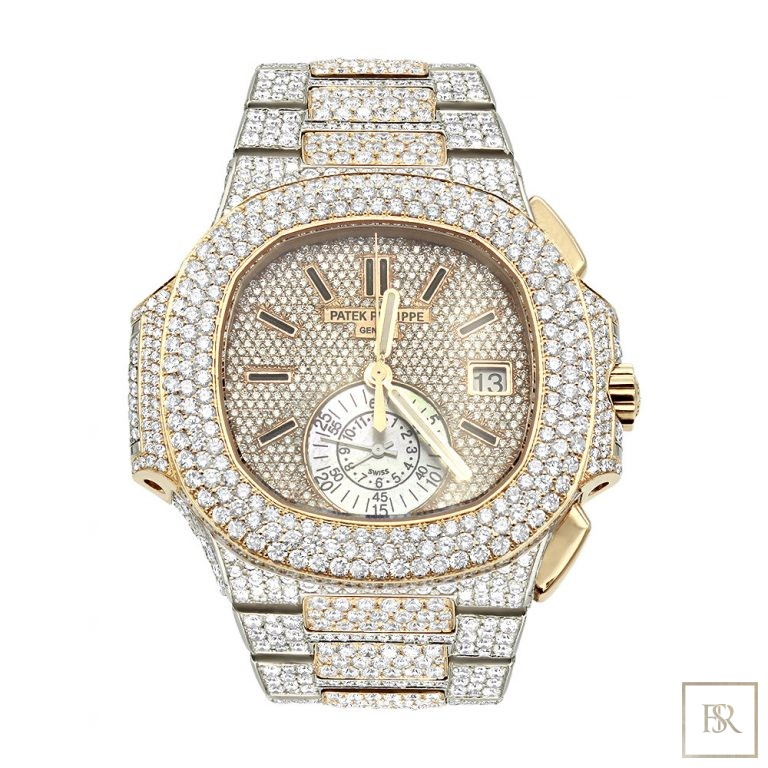 Watch PATEK PHILIPPE Nautilus Chronograph Date Diamond Pave Set  Unique for sale For Super Rich