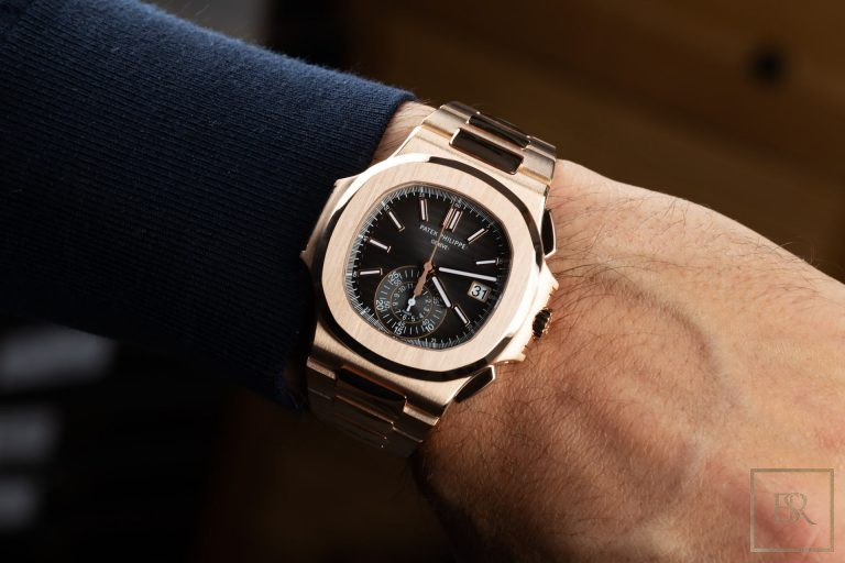 Watch PATEX PHILIPPE Nautilus Chronograph 18k rose gold  for sale For Super Rich