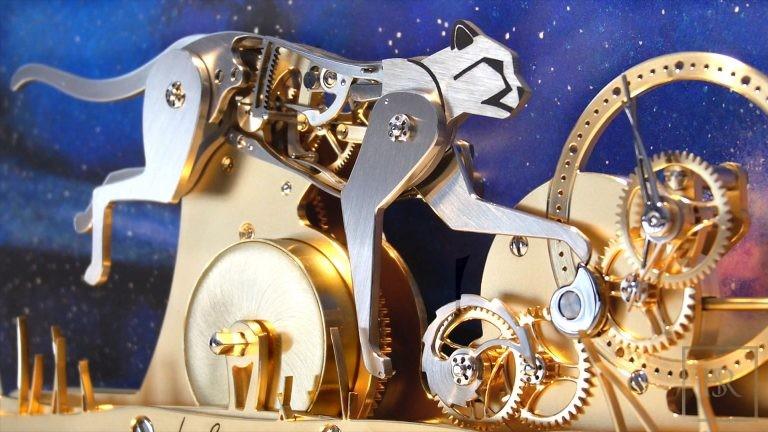 LE GUÉPARD - Poetic clock by John-M.Flaux Luxury for sale For Super Rich