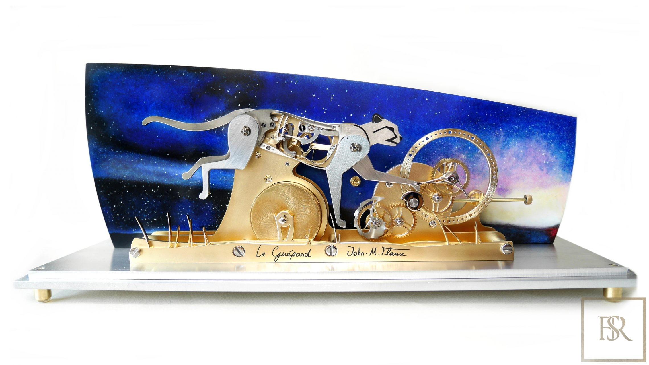 LE GUÉPARD - Poetic clock by John-M.Flaux for sale For Super Rich