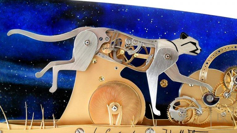 LE GUÉPARD - Poetic clock by John-M.Flaux France for sale For Super Rich