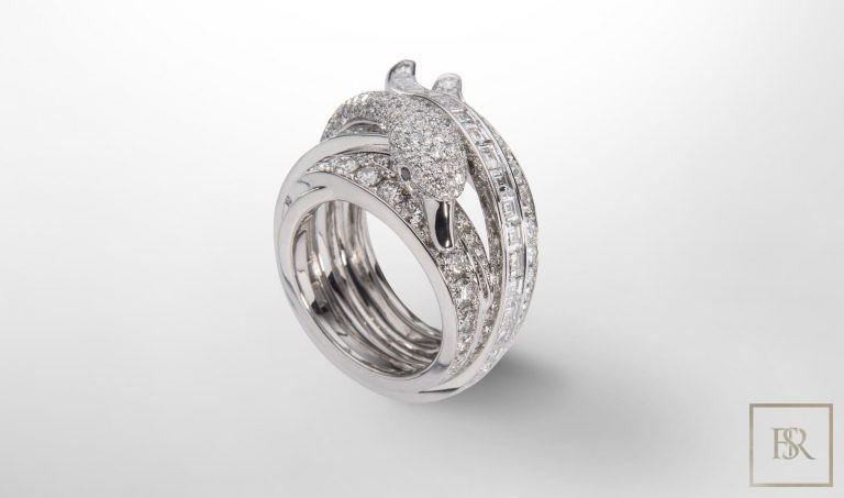 Jewelry, Giberg SWAN RING Gold diamonds