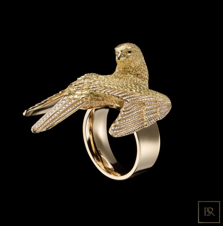 Masterpiece Gold & Diamonds FALCON Ring - GIBERG 68000 for sale For Super Rich