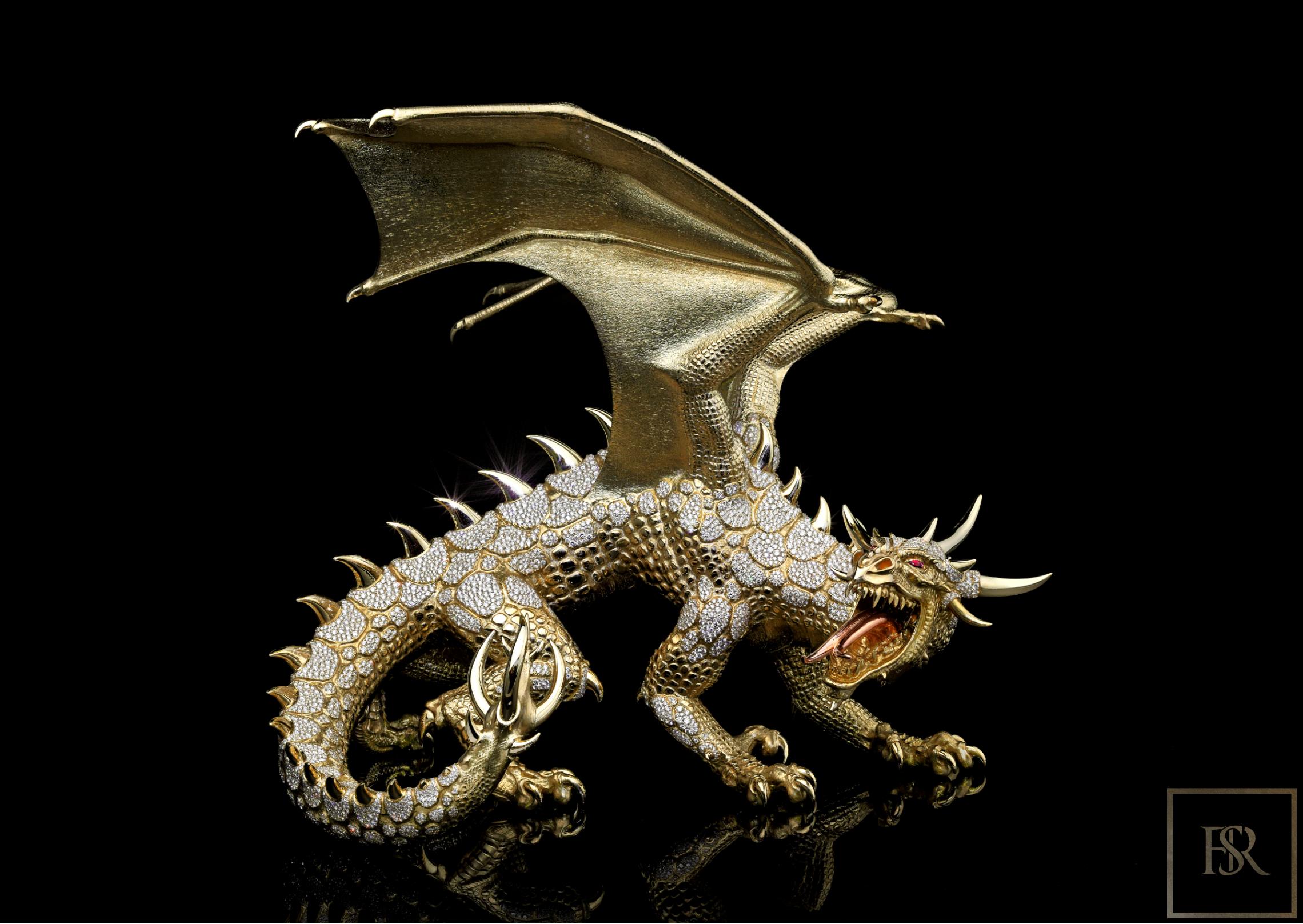 Unique Sculpture Dragon AHTON - GIBERG for sale For Super Rich