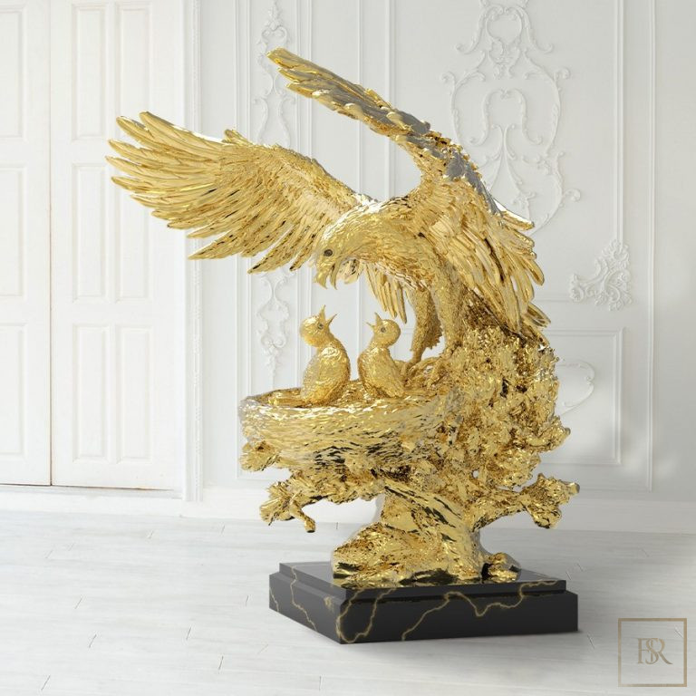 Golden Eagle Nest Sculpture ANATOLIOS 0 for sale For Super Rich