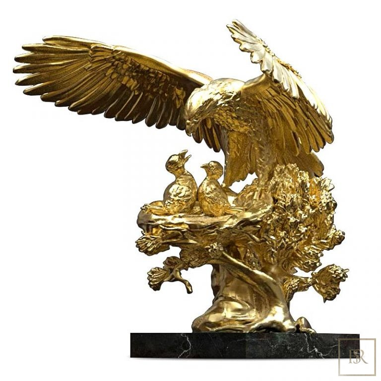 Golden Eagle Nest Sculpture ANATOLIOS 0 for sale For Super Rich