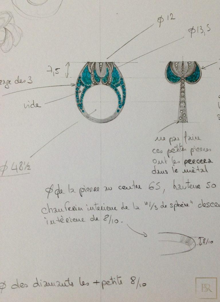 Ring TSARINA - SANDRINE TESSIER Unique for sale For Super Rich
