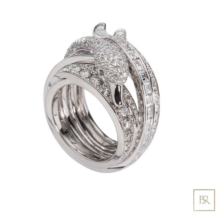 Jewelry SWAN-RING Gold & 572 Diamonds - GIBERG 69000 for sale For Super Rich